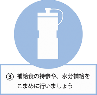 3.Let's perform bringing and hydration of supplementary lunch diligently